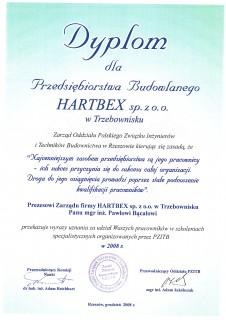Dyplom od Związku Inżynierów i Techników Budownictwa
