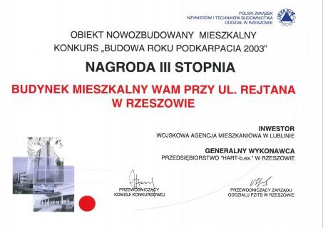 Nagroda za budynek mieszkalny w Rzeszowie