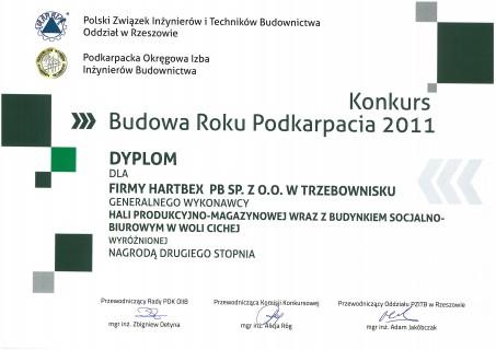 Medal za halę produkcyjno-magazynową 2011
