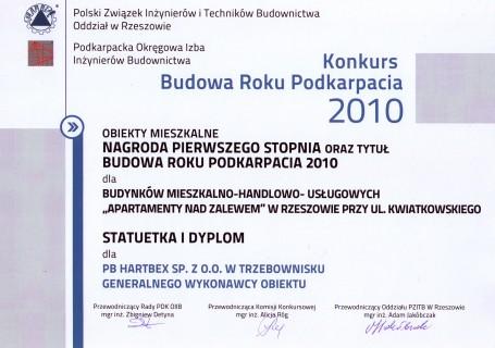 Nagroda budynki  mieszkalno-handlowo-usługowe
