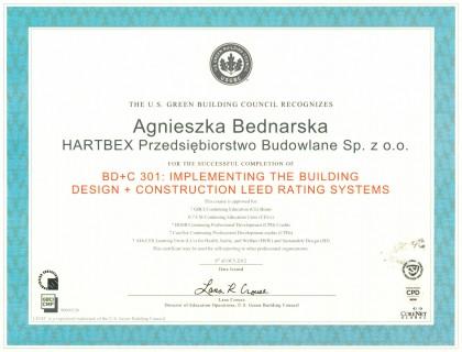 Certyfikat LEED BD+C 301 abednarska