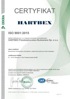 Certyfikat ISO 9001:2015 za budownictwo mieszkaniowe, przemysłowe